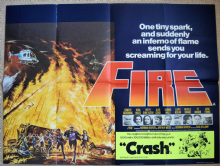 Fire Vintage Movie Poster - UK Quad
